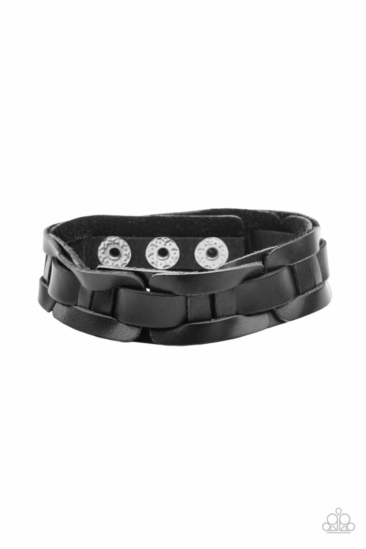 Paparazzi Accessories:  Garage Band Grunge - Black (1114)