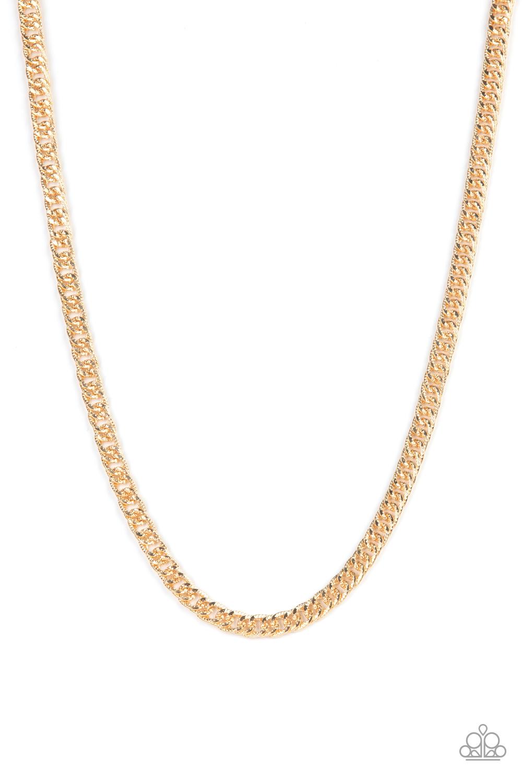 Paparazzi Accessories:  Valiant Victor - Gold (3103)