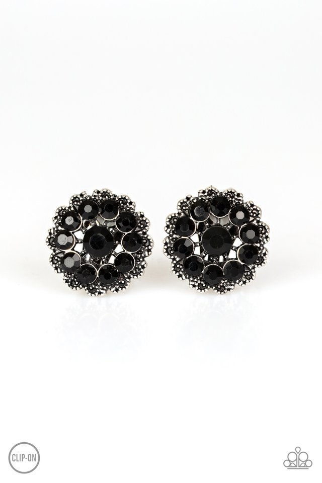 Business Bedazzle - Black - Paparazzi Earring Image