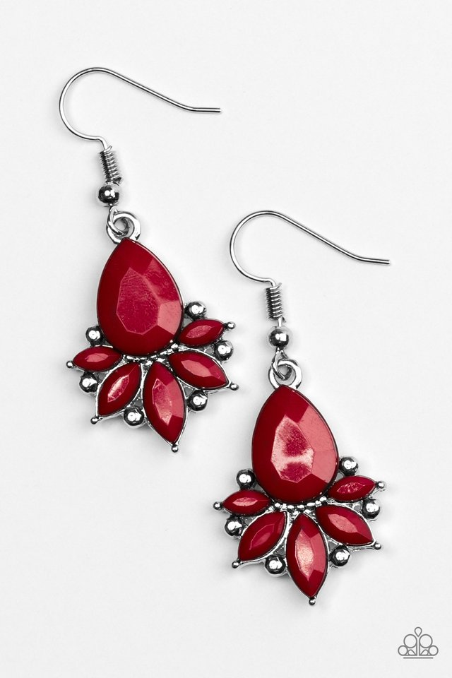 GLAM Up! - Red - Paparazzi Earring Image
