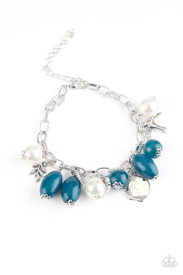 Love Doves - Blue - Paparazzi Bracelet Image