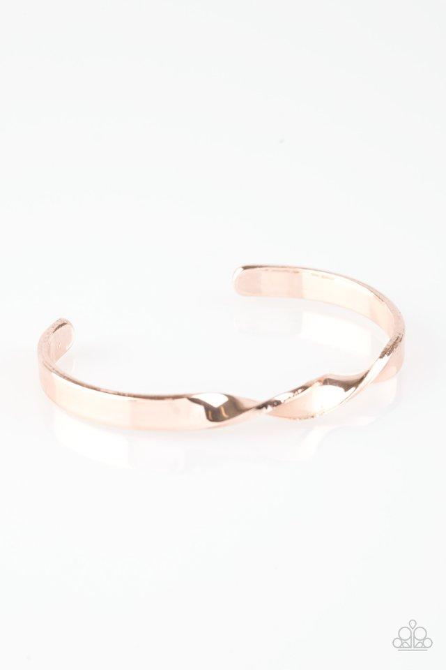 Traditional Twist - Rose Gold - Paparazzi Bracelet Image
