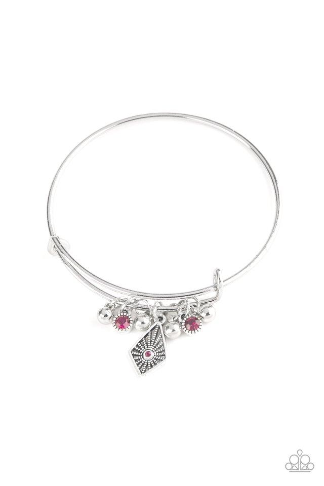 Treasure Charms - Pink - Paparazzi Bracelet Image