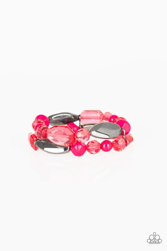 Rockin Rock Candy - Pink - Paparazzi Bracelet Image