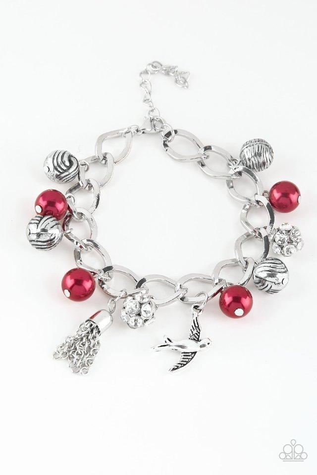 Lady Love Dove - Red - Paparazzi Bracelet Image