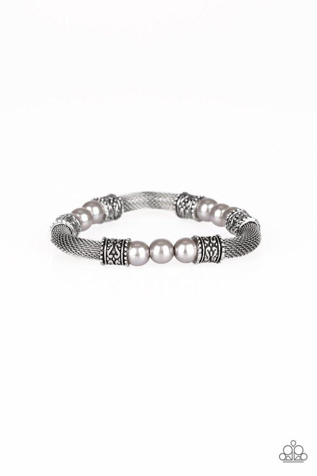 Talk Some SENSEI - Silver - Paparazzi Bracelet Image