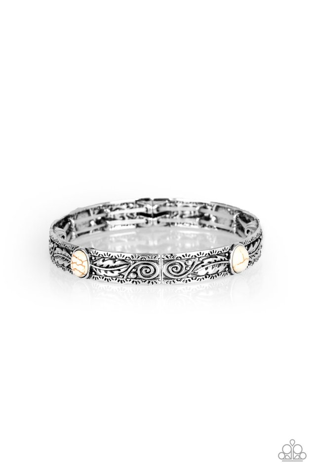 Wild West Story - White - Paparazzi Bracelet Image