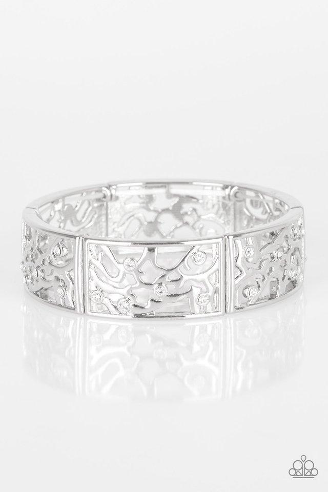 Yours and VINE - White - Paparazzi Bracelet Image