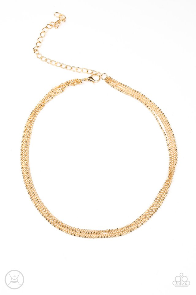 If You Dare - Gold - Paparazzi Necklace Image
