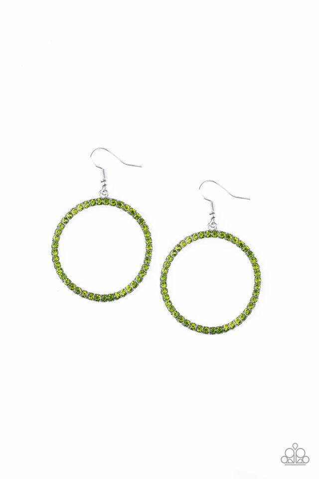 Stoppin Traffic - Green - Paparazzi Earring Image