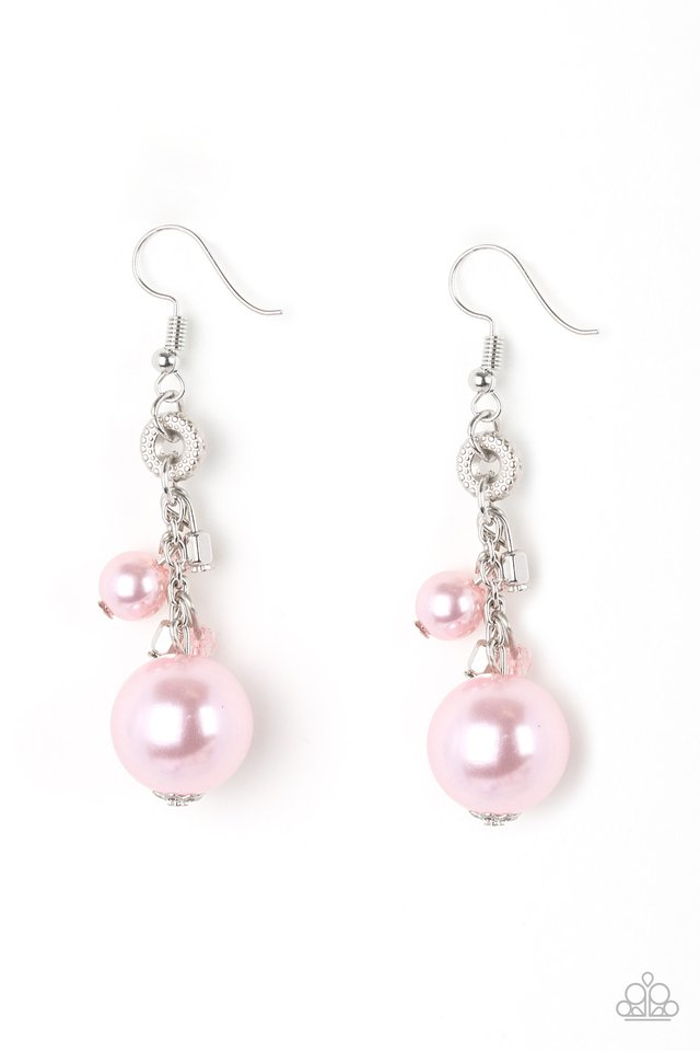 Timelessly Traditional - Pink - Paparazzi Earring Image