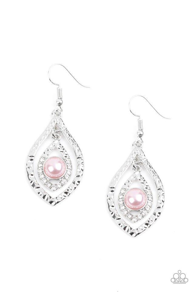Breaking Glass Ceilings - Pink - Paparazzi Earring Image