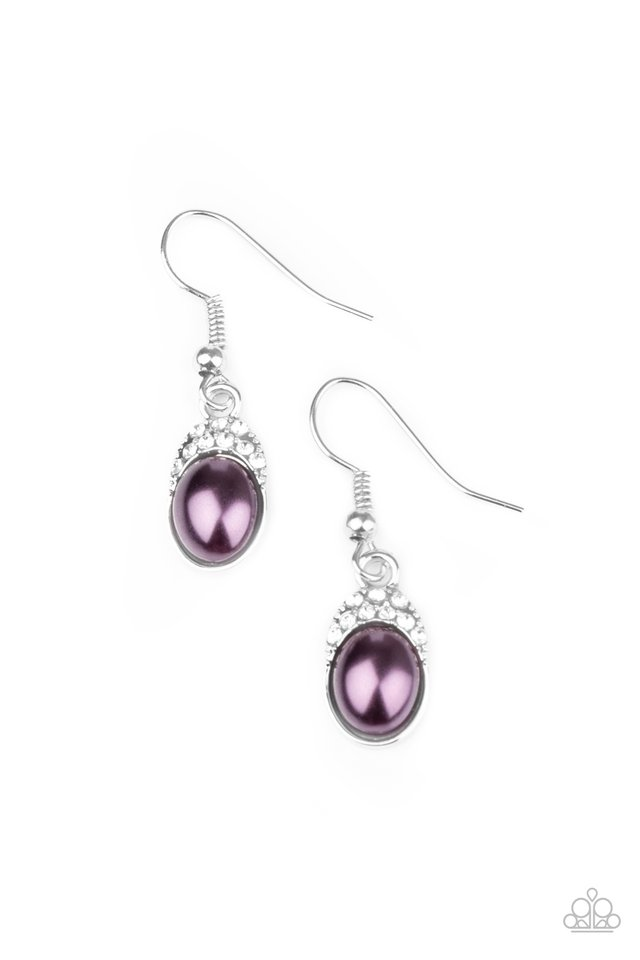 How Fancy - Purple - Paparazzi Earring Image