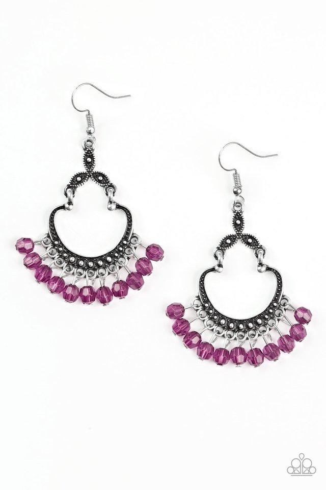 Babe Alert - Purple - Paparazzi Earring Image