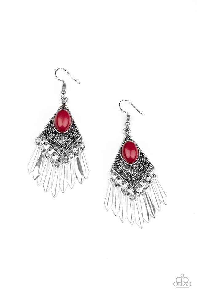 Mostly Monte-ZUMBA - Red - Paparazzi Earring Image