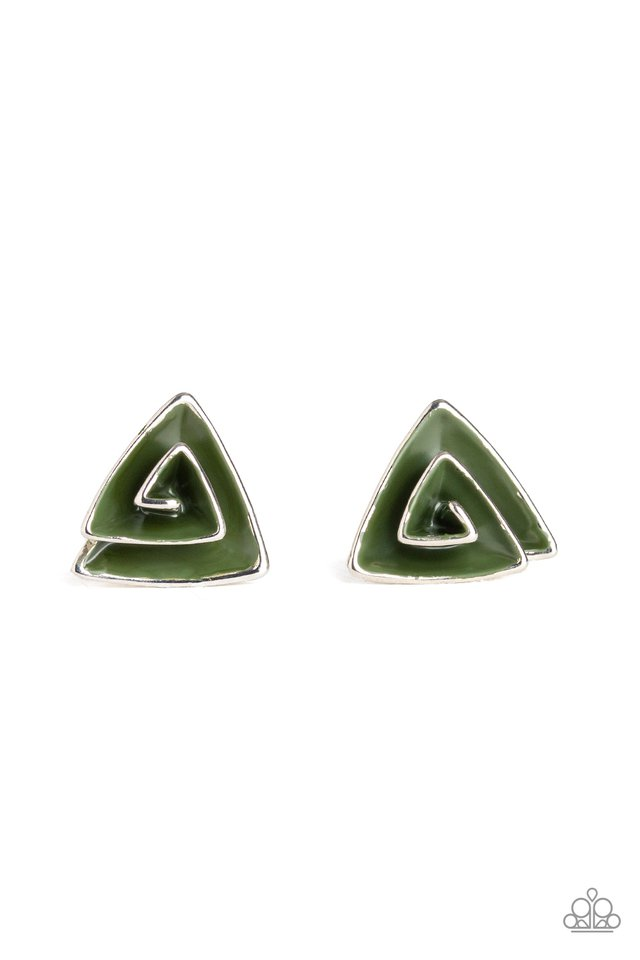 On Blast - Green - Paparazzi Earring Image