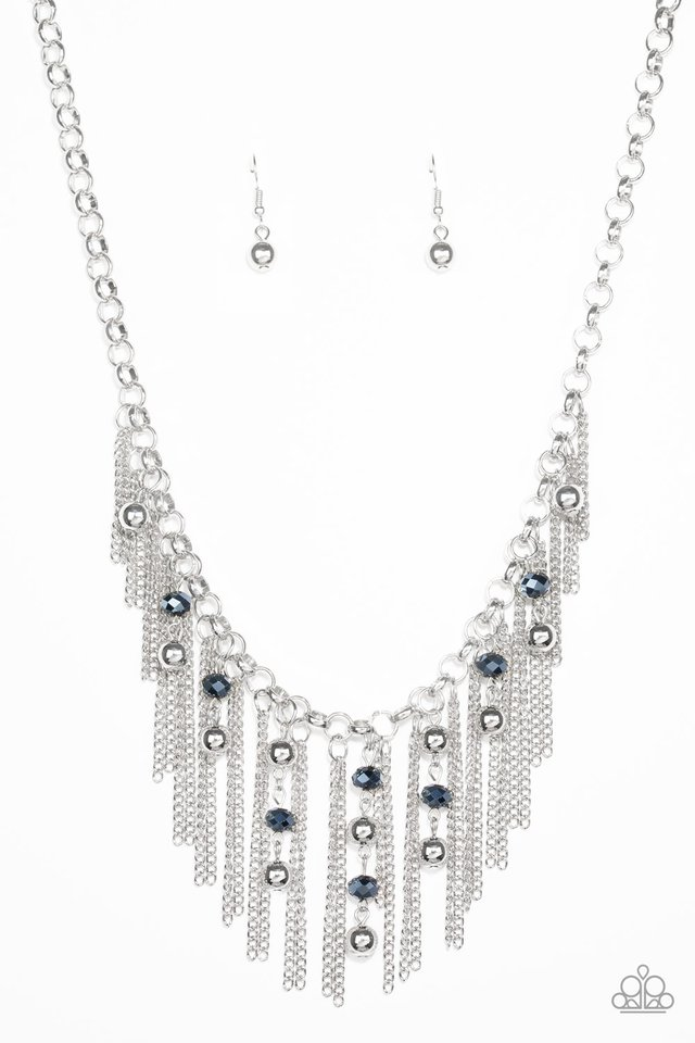 Ever Rebellious - Blue - Paparazzi Necklace Image