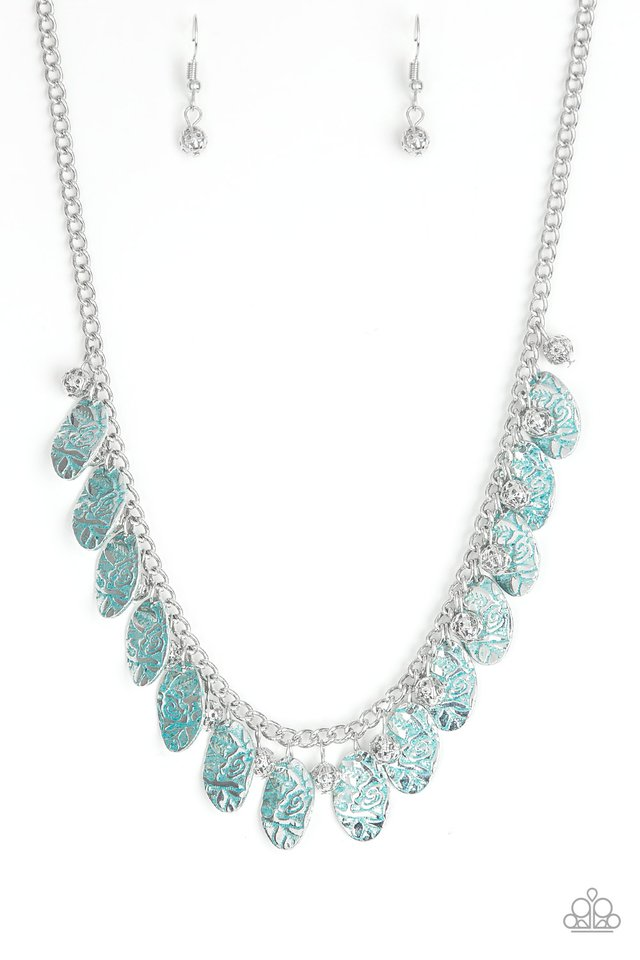 Vintage Gardens - Blue - Paparazzi Necklace Image