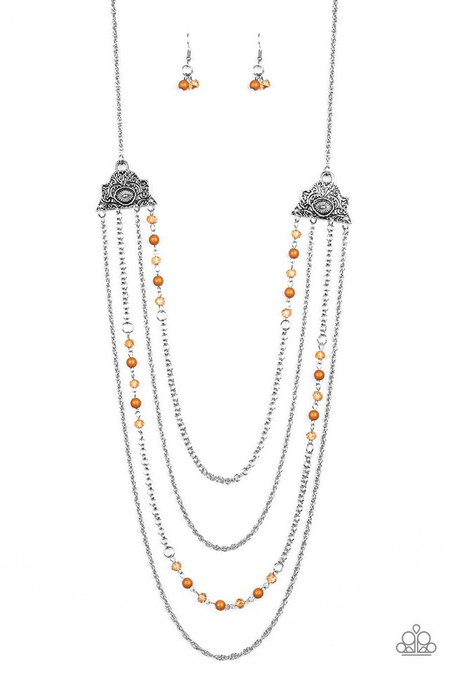 Pharaoh Finesse - Brown - Paparazzi Necklace Image