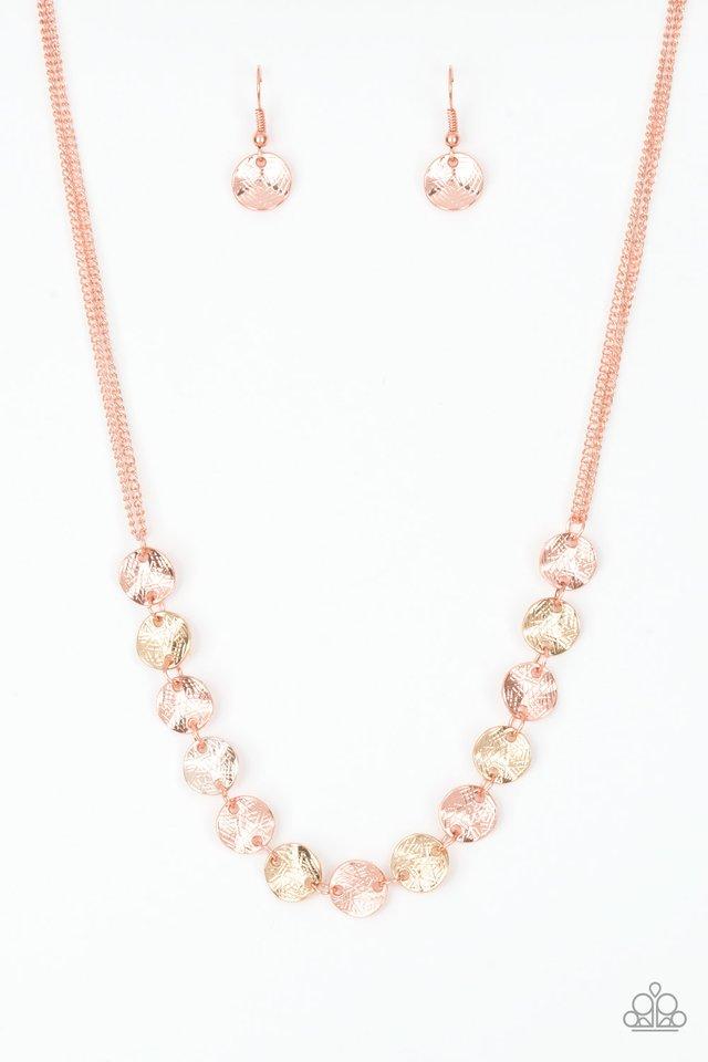 Simple Sheen - Copper - Paparazzi Necklace Image