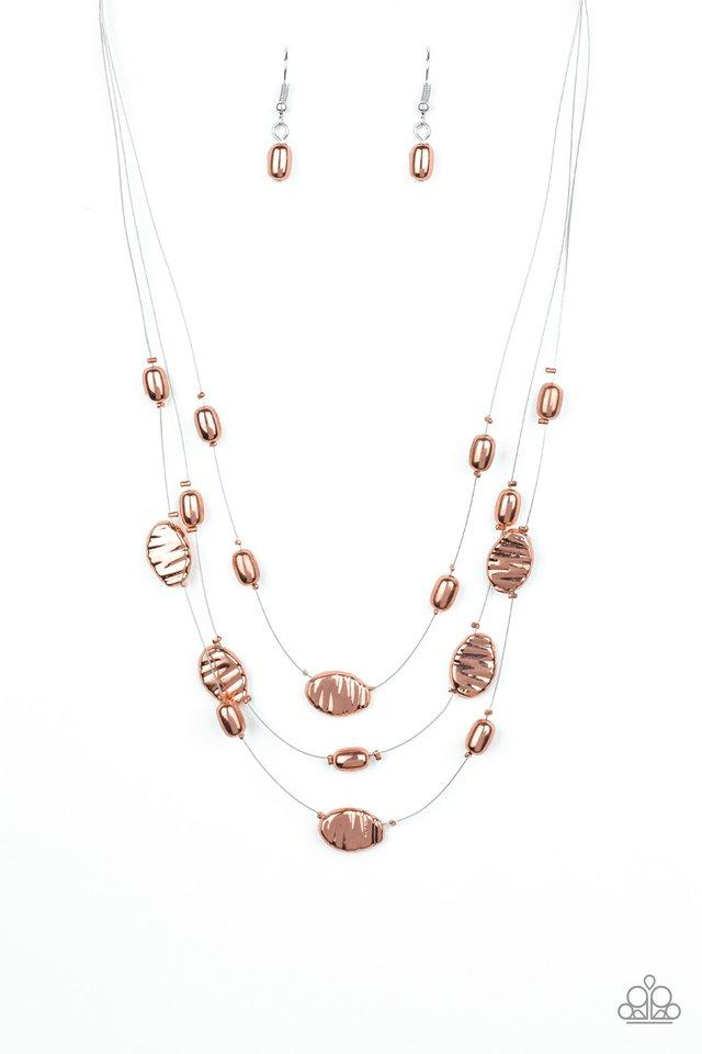 Top ZEN - Copper - Paparazzi Necklace Image