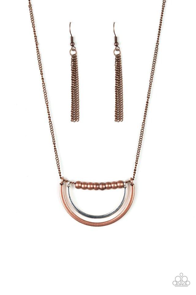 Artificial Arches - Copper - Paparazzi Necklace Image