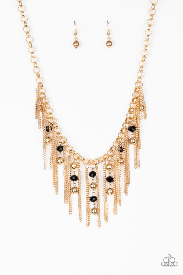 Ever Rebellious - Gold - Paparazzi Necklace Image
