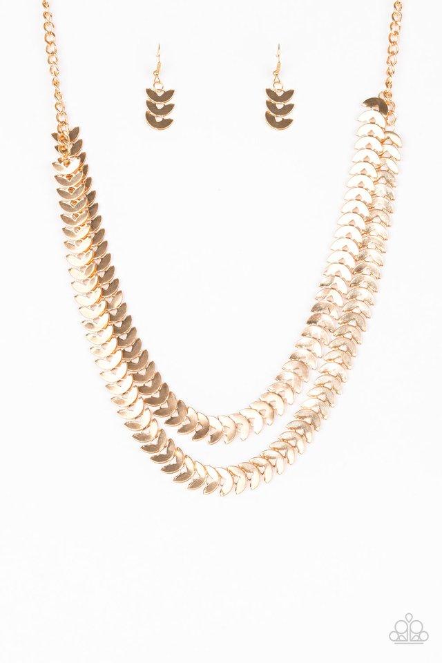 Industrial Illumination - Gold - Paparazzi Necklace Image