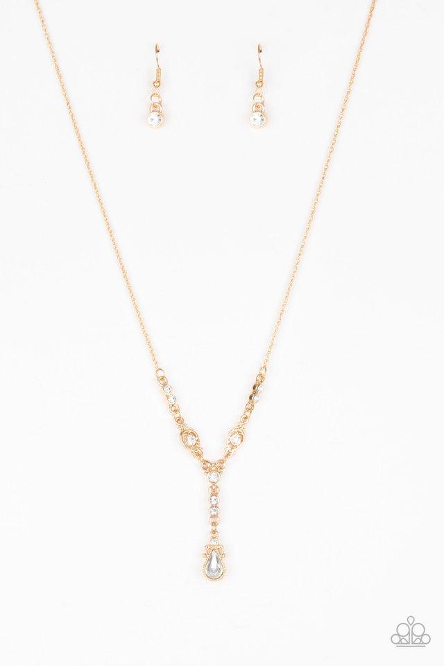 Diva Dazzle - Gold - Paparazzi Necklace Image