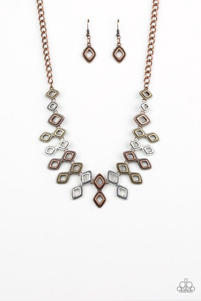 Geocentric - Multi - Paparazzi Necklace Image