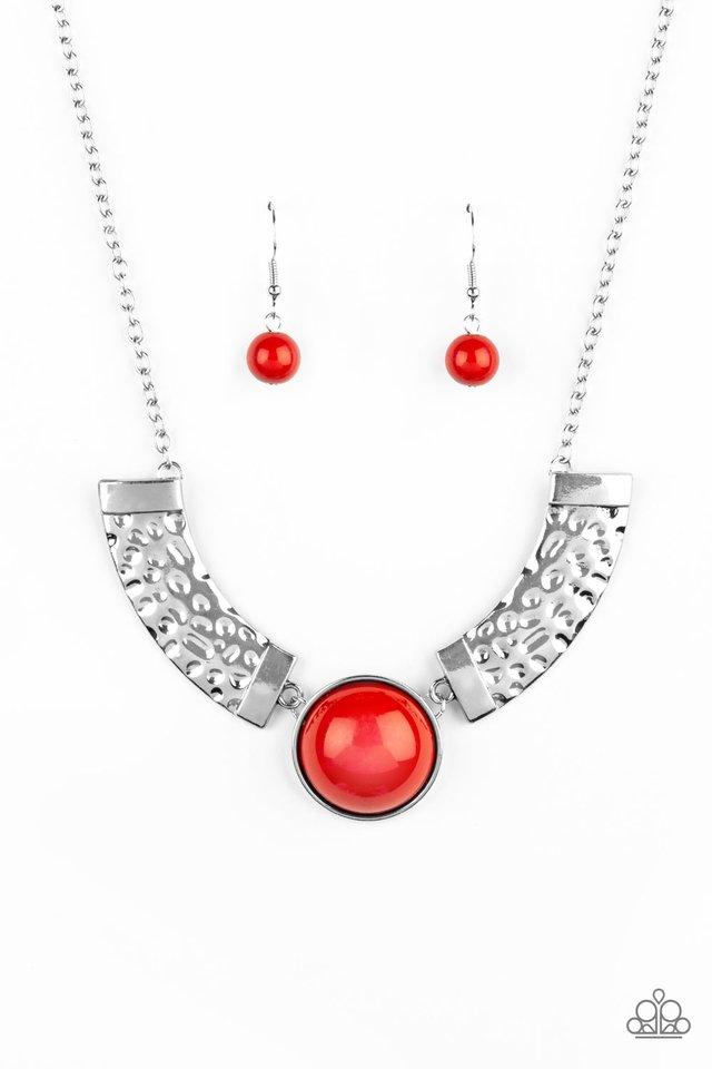 Egyptian Spell - Orange - Paparazzi Necklace Image