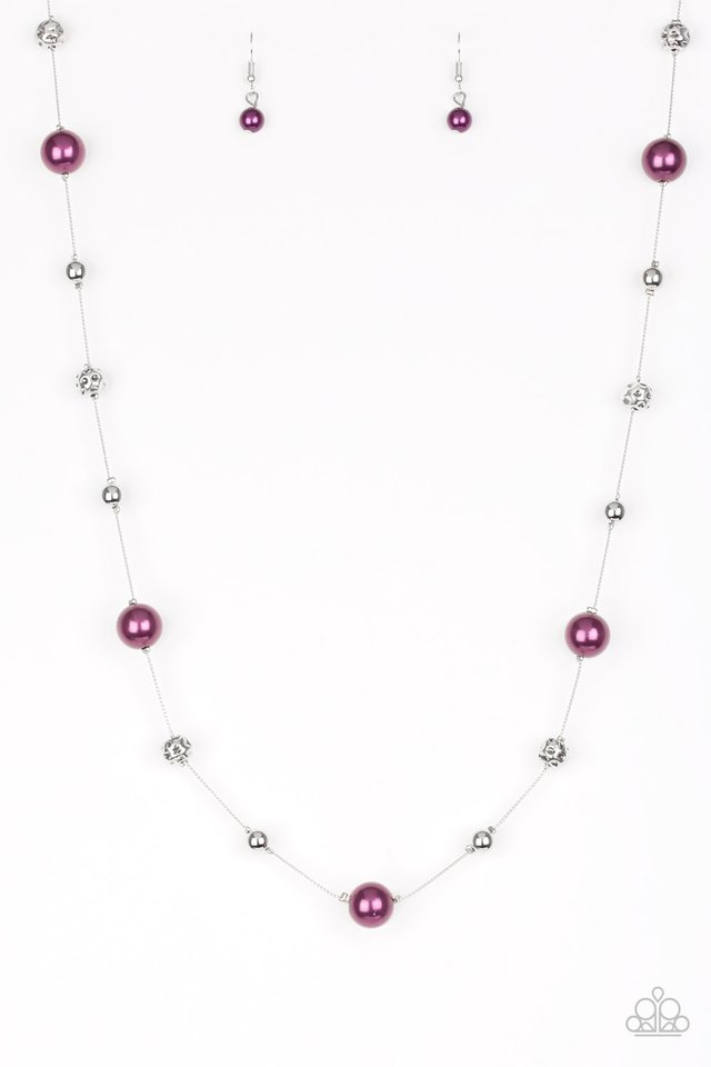 Eloquently Eloquent - Purple - Paparazzi Necklace Image