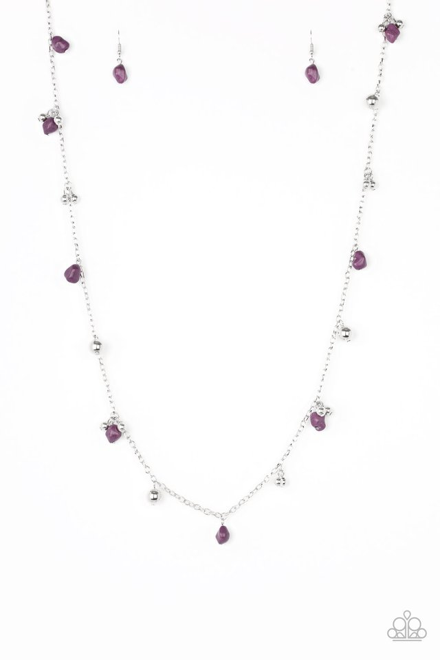 Both Feet On The Ground - Purple - Paparazzi Necklace Image