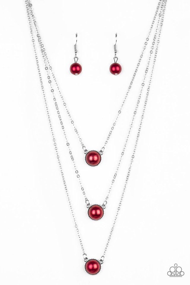 A Love For Luster - Red - Paparazzi Necklace Image