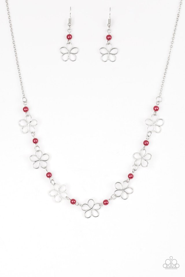 Always Abloom - Red - Paparazzi Necklace Image