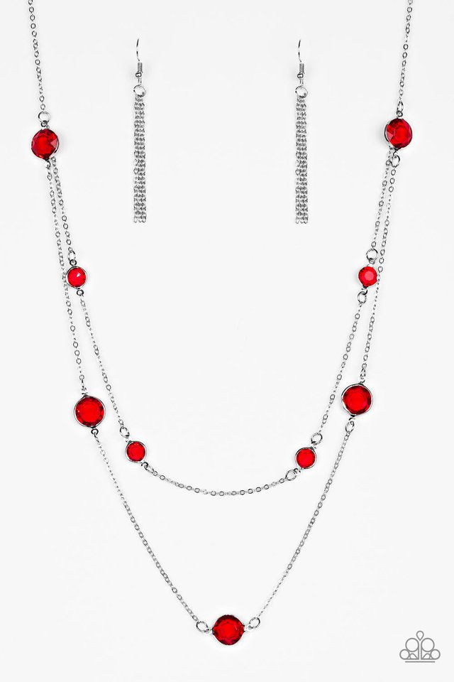 Raise Your Glass - Red - Paparazzi Necklace Image