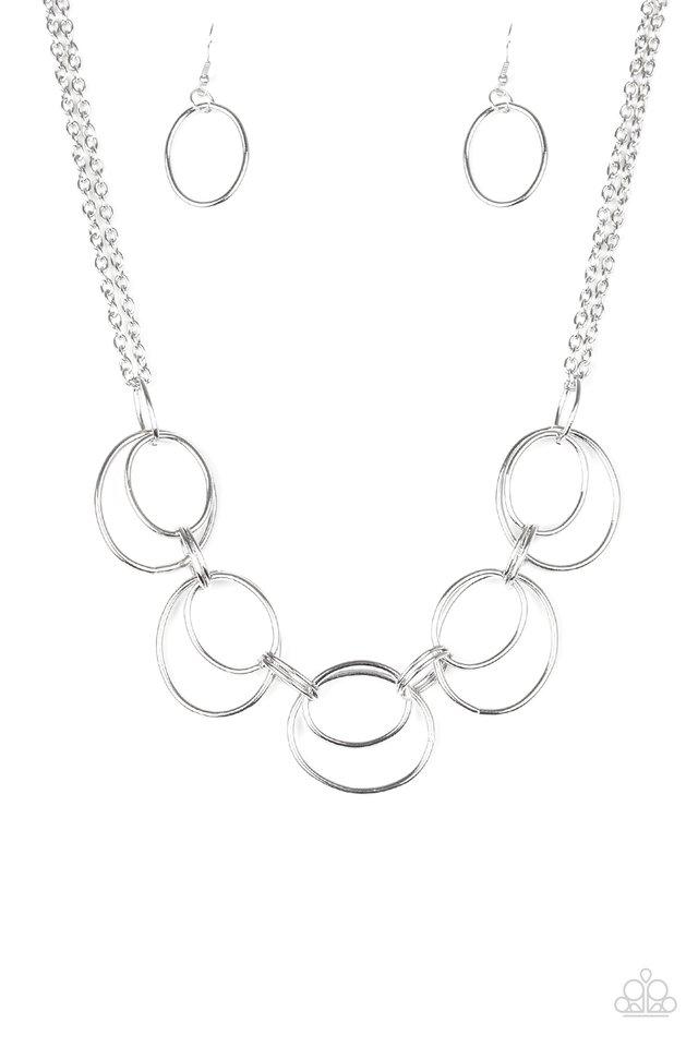 Urban Orbit - Silver - Paparazzi Necklace Image