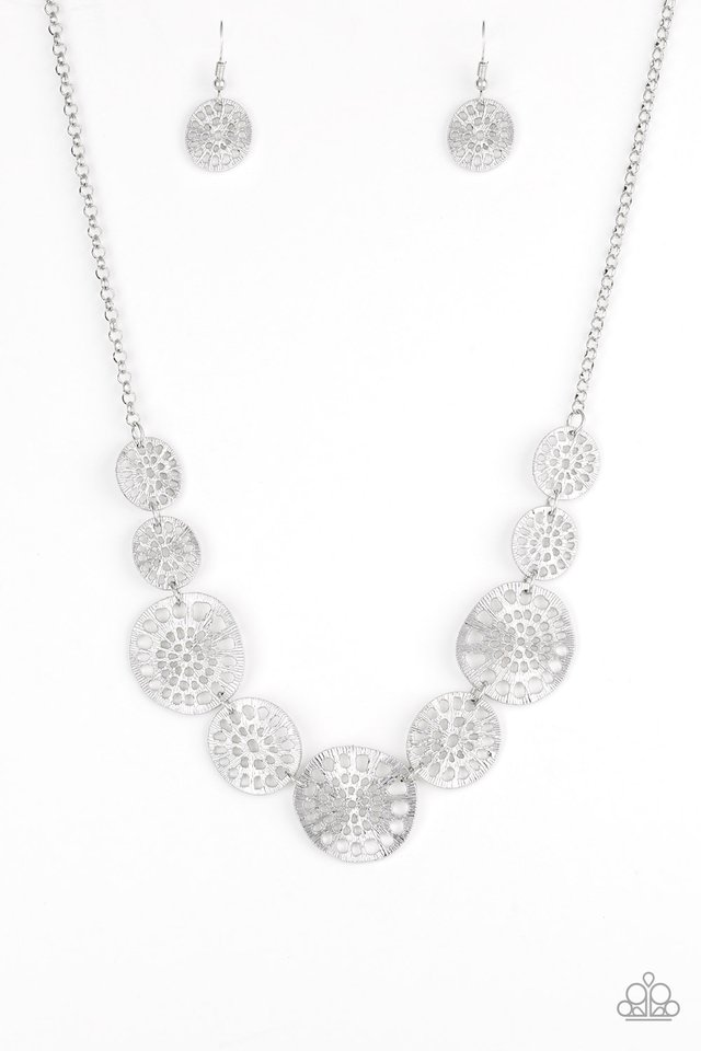 Your Own Free WHEEL - Silver - Paparazzi Necklace Image
