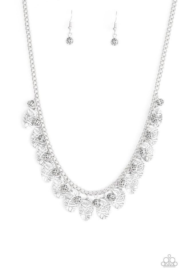 Vintage Gardens - Silver - Paparazzi Necklace Image