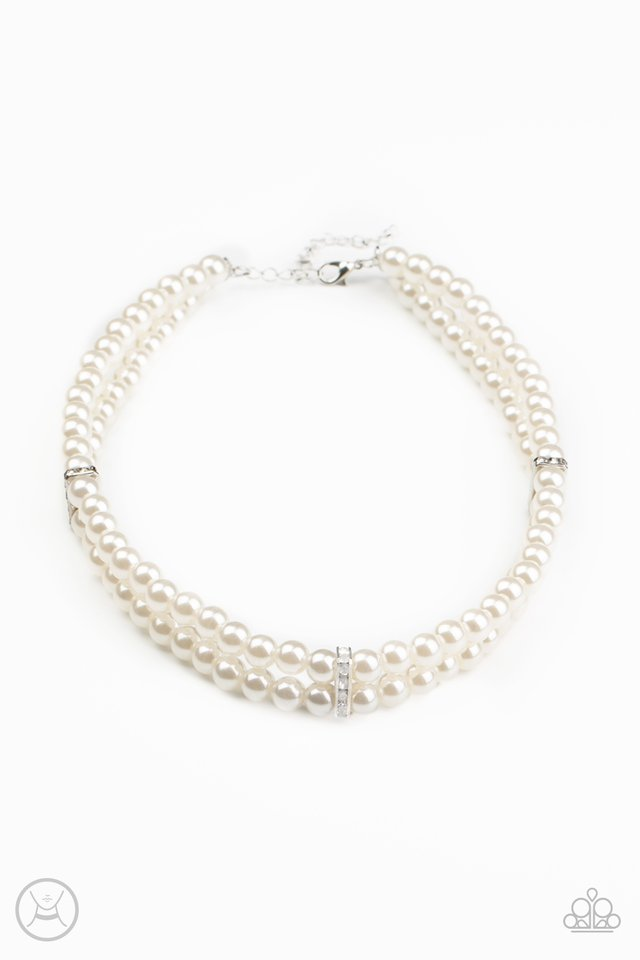 Put On Your Party Dress - White - Paparazzi Necklace Image