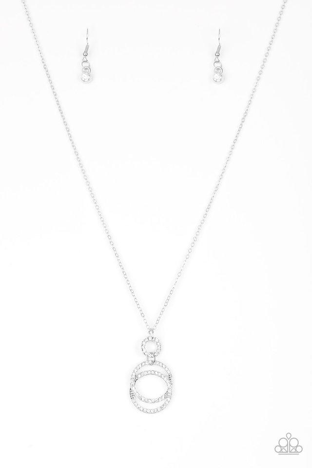 Timeless Trio - White - Paparazzi Necklace Image