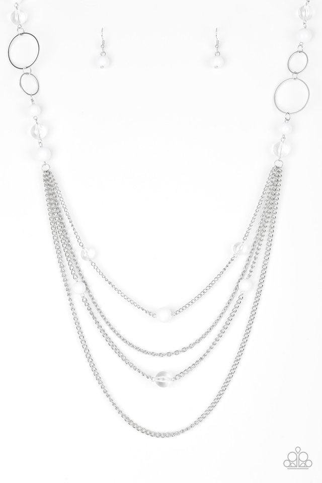 Bubbly Bright - White - Paparazzi Necklace Image