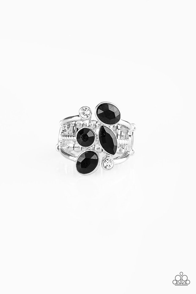 Metro Mingle - Black - Paparazzi Ring Image