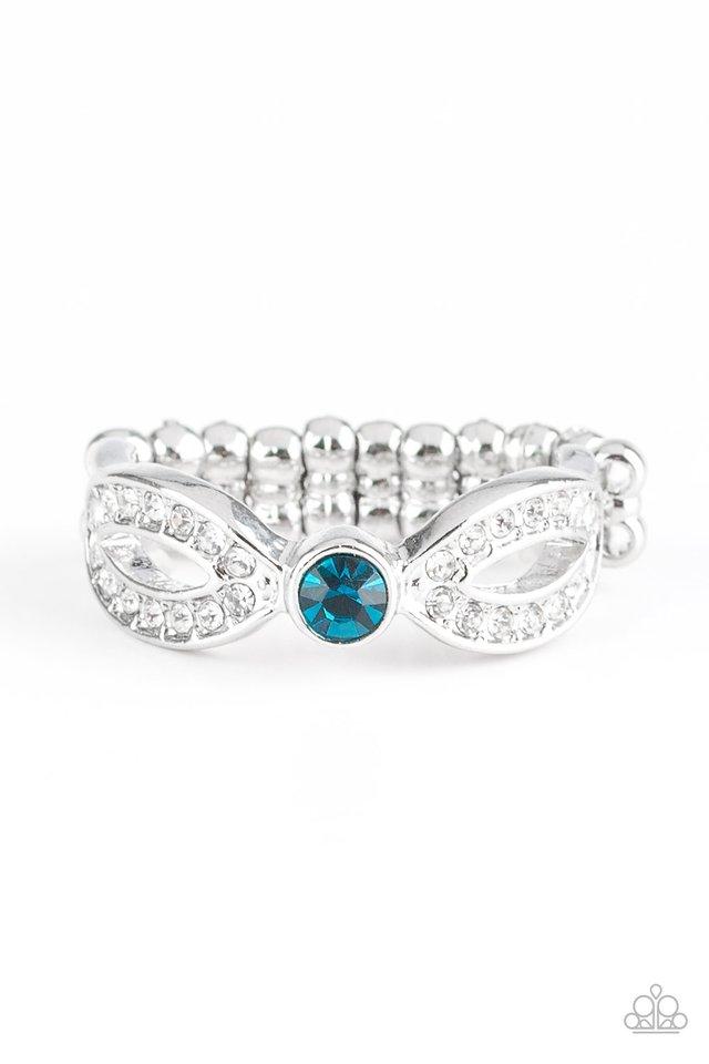 Extra Side Of Elegance - Blue - Paparazzi Ring Image