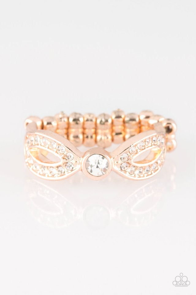 Extra Side Of Elegance - Rose Gold - Paparazzi Ring Image