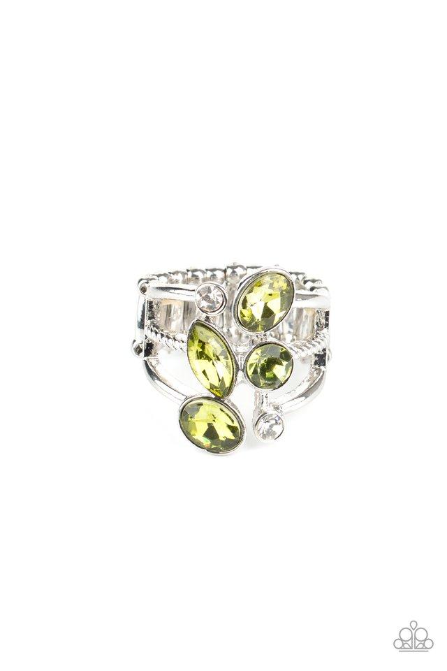 Metro Mingle - Green - Paparazzi Ring Image