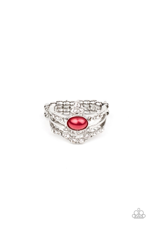 Timeless Tiaras - Red - Paparazzi Ring Image