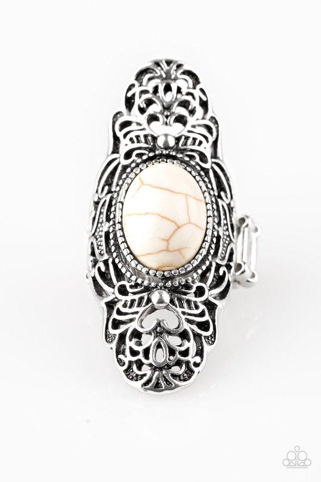 Ego Trippin - White - Paparazzi Ring Image