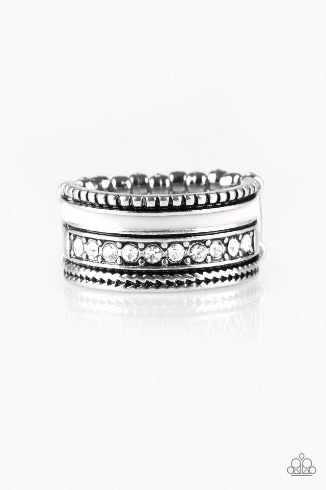 Rich Rogue - White - Paparazzi Ring Image