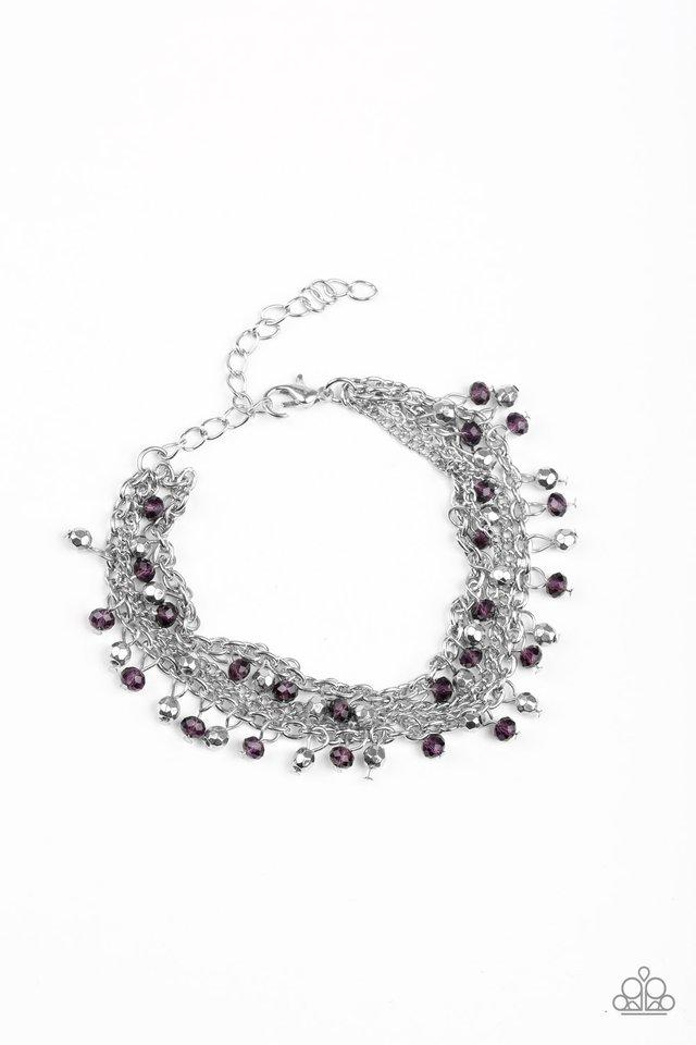Cash Confidence - Purple - Paparazzi Bracelet Image